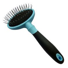 Iconic Pet - Hard Pin Brush - Blue - Width of Brush Head : 100mm. Total Length of Brush:185mm. Number of Pins:120pcsIconic Pet Hard Pin Brush has a comfortable grip to handle, which is made of TPE and PP.This hard pin brush can be used for both long and short coated breeds.The design of stainless steel pins setting on the cushion pad allows your pet to enjoy hair cleaning and skin massage at the same time.Warning: * This product is intended to use on pets.* Extreme pressure of the brush will…