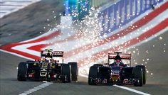 Pastor Maldonado Max Verstappen faíscas GP do Bahrein