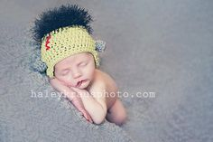 Crochet Frankenstein Monster Hat, Halloween Photography Prop, Newborn to Adult Good Halloween costume for the ill ones
