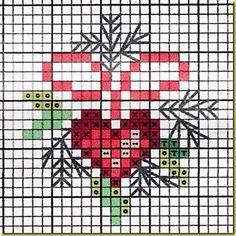 Foto-6 Cross Stitch Christmas Cards, Xmas Cross Stitch, Cross Stitch Heart, Cross Stitch Cards, Christmas Cross, Cross Stitching, Cross Stitch Embroidery, Winter Christmas, Modern Cross Stitch Patterns