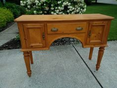 Vintage,Chic,Antique,Small Buffet,Accent,Hall table ready to be painted your choice of color by Michelle's Home Decor.Much more inventory of unpainted furniture on my website.