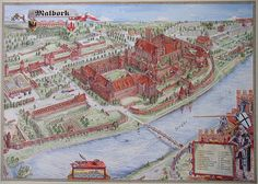 """The Castle in Malbork (German: Die Marienburg)  was built in Prussia by the Teutonic Order as an Ordensburg. The Order named it Marienburg, literally """"Mary's Castle"""". The town which grew around it was also named Marienburg, but since 1945 it is part of Poland and known as Malbork."""