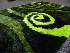 Black And Lime Green Area Rug
