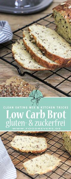Bake gluten-free low carb bread yourself - breakfast sugar-free - recipe possible with Pampered Chef - - Crab Recipes, Sugar Free Recipes, Low Carb Recipes, Acid Reflux Recipes, Best Chili Recipe, Food Test, Low Carb Bread, Healthy Baking, Coconut Flour