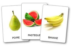 Imagier des fruits à imprimer