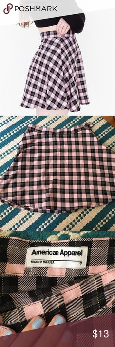 American Apparel plaid skirt pink Super cute American Apparel plaid mini skirt! 90s/Clueless style 👐👐 size small! American Apparel Skirts