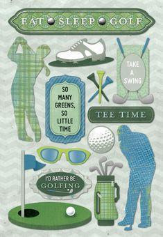 disney karen foster stickers   Karen Foster Design - Golf Collection - Cardstock Stickers - Eat Sleep ...