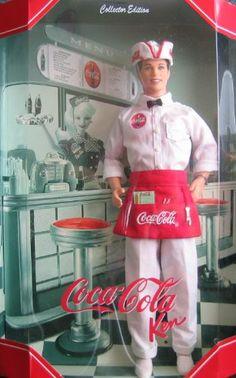 Barbie Coca Cola KEN DOLL Collector Edition (1999) Collector Edition Coca-Cola Ken Doll Vintage Coca Cola, Coca Cola Ad, Always Coca Cola, Mattel Barbie, Barbie And Ken, Pinup, Coca Cola Decor, Poppy Parker, Ken Doll