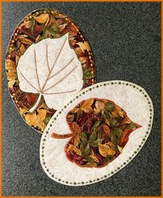 Coasters with applique, made in the hoop.