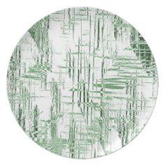 Art Deco Green plate