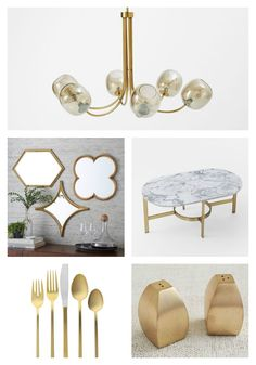 Fabulous Finds in Brass at West Elm!