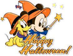 glitter halloween   ... ://www.glitters123.com/halloween/mickey-with-a-puppy-happy-halloween