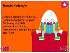 Hompie Kedompie - Kinderrympies in Afrikaans Child Development, Personal Development, Grade R Worksheets, Afrikaans, Life Skills, School Projects, Wal, Book Lovers, Mobile App