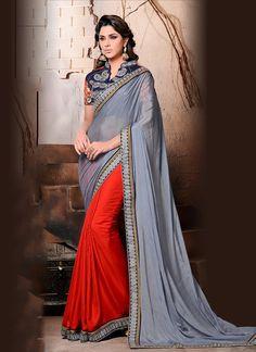 Affectionate Satin Designer Saree