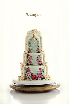 Rose Wedding Cake- | Flickr - Photo Sharing!