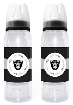 Oakland Raiders Baby Bottle 2 Pack