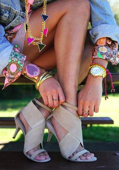 Love the shoes,also digging jewelry !