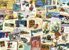 Victorian Greeting Cards Christmas Jigsaw Puzzle