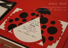 Stampin' Up! Ladybug Birthday Party Invitations