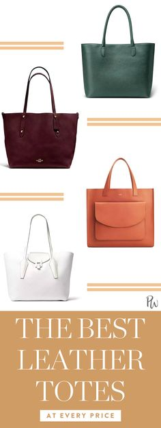 f563122519 Discover the best leather totes at every price here.  leathertotes   totebags  workbags