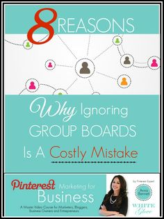 Pinterest Expert Anna Bennett reveals how  group boards can helps you get more engagement, get free content, and so much more. CLICK here to read the article http://www.whiteglovesocialmedia.com/pinterest-expert-8-reasons-ignoring-pinterest-group-boards-costly-mistake/