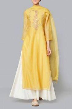Yellow Samika Suit Shop Yellow Samika Suit from Anita Dongre Pakistani Dresses, Indian Dresses, Indian Outfits, Indian Attire, Indian Ethnic Wear, Indian Suits Punjabi, Kurta Designs, Blouse Designs, Indian Designer Suits