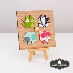 """Bear Paw Mini Barn Quilt Kit - Mini Barn Quilts -- I love this block, also known as """"the hand of friendship"""""""