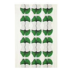 ANVÄNDBAR Metervare, grønn, hvit  198 pr meter til duk