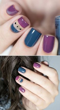 40 Gorgeous Gel Nail Designs and Ideas – – Nail Art Ideas 2020 Stylish Nails, Trendy Nails, Cute Nails, Nail Polish Designs, Nail Art Designs, Hair And Nails, My Nails, Gel Nagel Design, Rainbow Nails