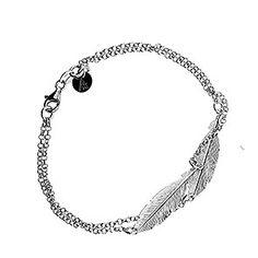 Silver Double Feather Bracelet #Feather #Spiritual #SterlingSilver #Bracelet #Jewellery