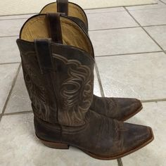 Authentic Shyanne Leather Cowboy Boots Worn twice. Awesome condition. Size 7 1/2. Will  throw in leather conditioner for free with purchase. Price is firm. Shoes Heeled Boots