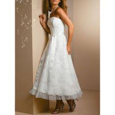 Ankle-length wedding dress