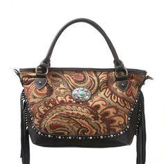 Montana West Aztec Collection Fringe Handbag