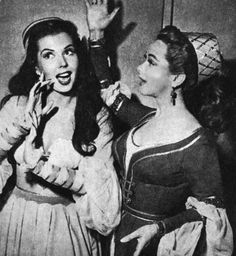 https://flic.kr/p/8LVAXv | Ann Miller & Kathryn Grayson | On the Set of & in Costume for KISS ME KATE.