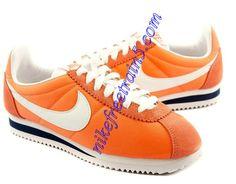 best service a846f 9c9df Nike Classic Cortez Nylon Womens Luminous Orange White Nike Classic Cortez, Nike  Cortez, Nike