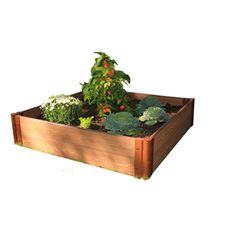 Frame It All�48-in L x 48-in W x 12-in H Plastic Raised Garden Bed. Available at Lowes for $115.95.