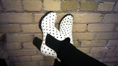 Cassie from Cassie Stewart in the Hot Dot Chelsea Boot (http://www.nastygal.com/product/hot-dot-chelsea-boot) #ShoeCult