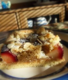 The English Kitchen: Plum and Almond Crumble Cake