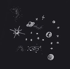 Planets and Stars Tattoos Drawings (page - Pics about space Illustration Inspiration, Illustration Art, Landscape Illustration, Space Drawings, Art Drawings, Drawings Of Stars, Galaxy Drawings, Image Tumblr, Outer Space