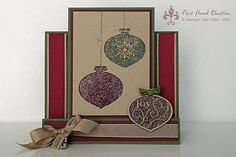 Stampin' UP! Delightful Decorations Center Step Card
