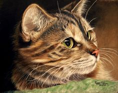 PORTRAIT OF A CAT by anniecanjump.deviantart.com on @deviantART