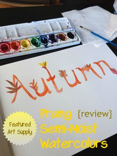 Once a Month Art Supply- Prang Semi-Moist Watercolors