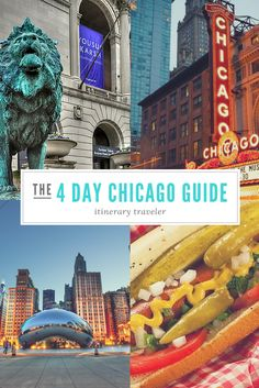 Chicago Travel/The Ultimate Guide to A Weekend in Chicago - What to see, do, eat, go, stay and how to spend your time traveling! Chicago Vacation, Chicago Travel, Travel Usa, Chicago Trip, Chicago Attractions, Chicago Restaurants, Visit Chicago, Chicago Must See, Road Trip Usa