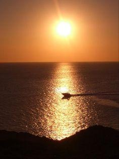 Enjoying a beautiful sunset in Ibiza