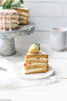 Vanilla Bean Layer Cake With Cream Cheese Whipped Cream