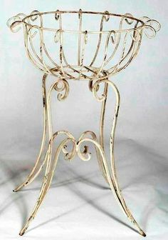"""29"""" tall x 20.5""""  Wrought Iron Round Heavy Plant Stand - Largest Size Pot Holder"""