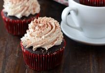 Mexican Hot Chocolate Cupcakes with Cayenne Spiced Whipped Cream