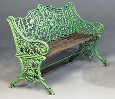 Cast Iron Garden Furniture, Cast Iron Garden Bench, Vintage Outdoor Furniture, Cast Iron Bench, Iron Furniture, Furniture Makeover, Wrought Iron Bench, Antique Iron, Settees