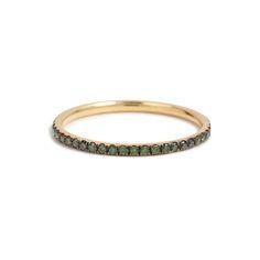 18-karat Yellow Gold Ring with Green Diamonds, Ileana Makri $935