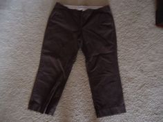 OLD NAVY BRAND WOMENS STRETCH Brown CAPRIS SIZE 14 #OldNavy #CapriCropped